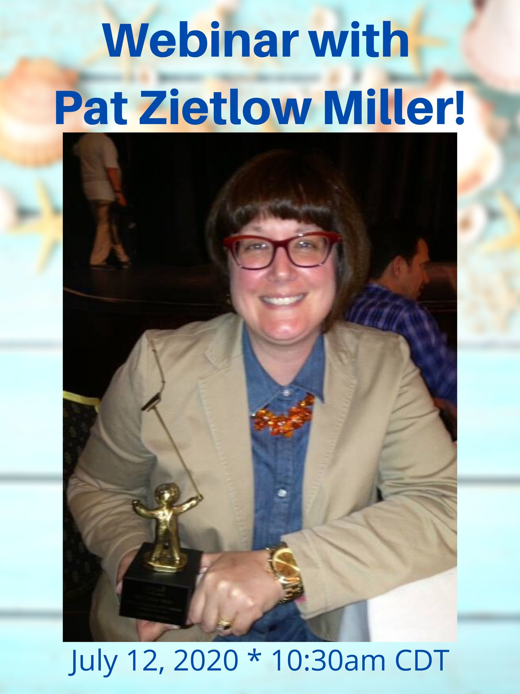 Webinar With Pat Zietlow Miller Mark your calendars! July 12, 20209 10:30 CDT/11:30 EDT How to be Inspired by the Masters. No Stealing Required.