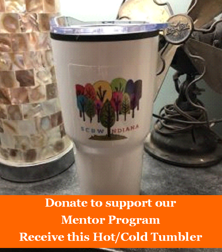 IN SCBWI Funding Tumbler   Please support our Mentor Program and help save the environment!   Anyone who donates at least $20 to support the IN SCBWI Mentor Program will receive this tumbler as a thank you gift. We will be accepting donations and have these available at the Autumn Frost Retreat and the Yearly Cheer Luncheon. You may also make an online donation plus a $5 shipping fee and it can be mailed to you. Email Angie for details. Indiana-ra@scbwi.org    The IN SCBWI logo is a plastic, waterproof sticker that can be removed, for non-writer/illustrator gift giving options.    Description:The 30 oz Chelsea is a double wall tumbler. 18/8 stainless construction with a polypropylene liner. Double wall construction allows you to enjoy your hot or cold beverage for up to 6 hours. Thumb-slide, spill resistant lid, with rubber gasket. Capacity is 28 oz with lid on. Hand wash recommended. BPA FREE. Product Dimensions: 7.75
