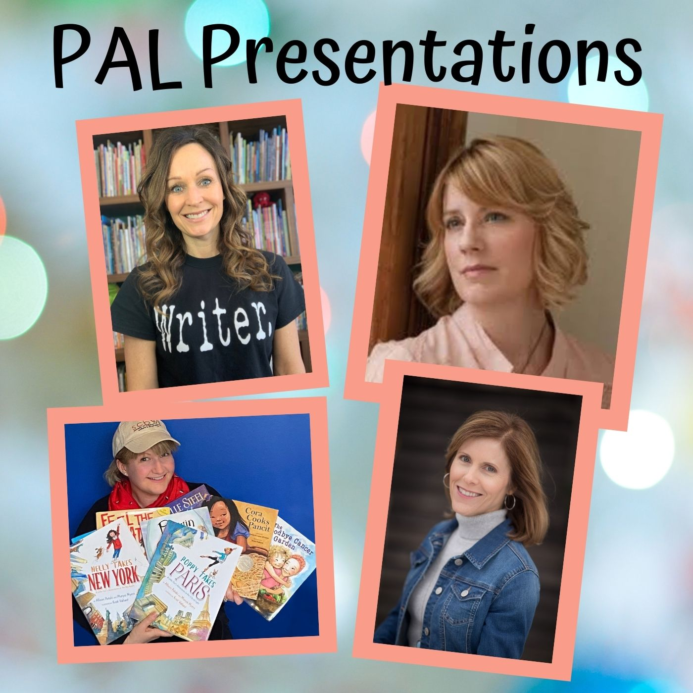 Our talented group of PAL authors and author-illustrator will be giving virtual talks in 2021. Check them out and sign up: Shannon Anderson - February 6, 2021 Kristi Valiant - July 17, 2021 Cindy Argentine - November 6, 2021 Sharon Biggs Waller - December 4, 2021 - info to come